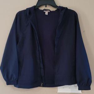 Girl's navy blue light weight jacket.